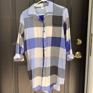 Plaid Tunic/Sweater Dress